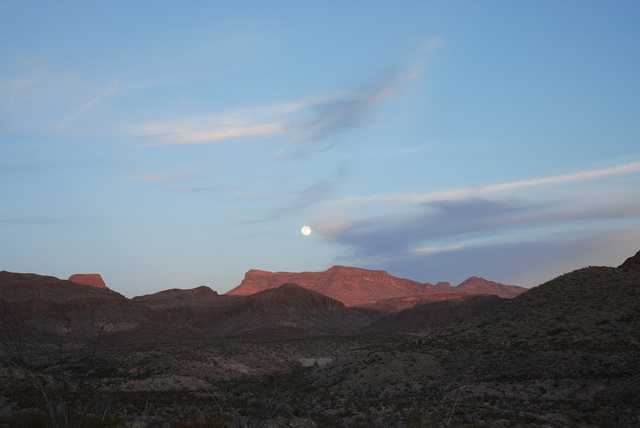 , 'West Texas: Full moon over the Chisos Mountain, Big Bend National Park,' 2006, PDNB Gallery