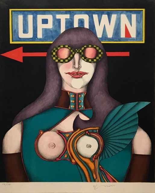 Richard Lindner, 'Uptown (from Fun City)', 1971, Richard Norton Gallery