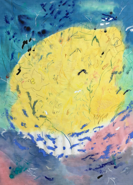 Brian Rattiner, 'Glass Work I', 2020, Painting, Fluid acrylic, graphite, pastel, oil pastel, marker and salt on white linen, Carvalho Park