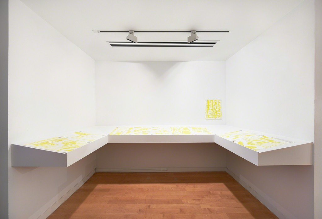 Suzanne McClelland, Just Left Feel Right (installation view), 2017. The Aldrich Contemporary Art Museum, Ridgefield, CT. Photo: Tom Powel Imaging.