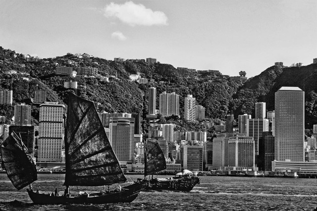, 'Some of the Last Working Junks Pass Through, Victoria Harbour, Hong Kong,' 1978, Pékin Fine Arts