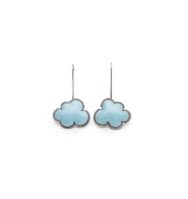 Lisa Crowder, 'Blue Enamel Cloud Earrings', 2018, Palette Contemporary Art and Craft
