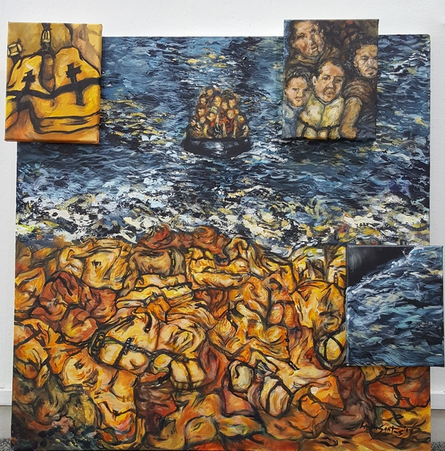, 'Exodus (Shore of Life Vests),' 2017, Di Legno Gallery