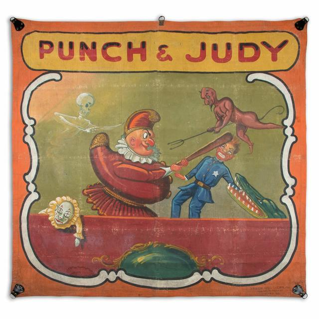 'Punch & Judy Sideshow Banner', 1930s, Doyle