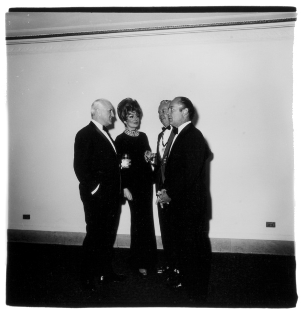 , 'Four people at a gallery opening, N.Y.C.,' 1968 / printed by Diane Arbus 1968 -1970, Fraenkel Gallery