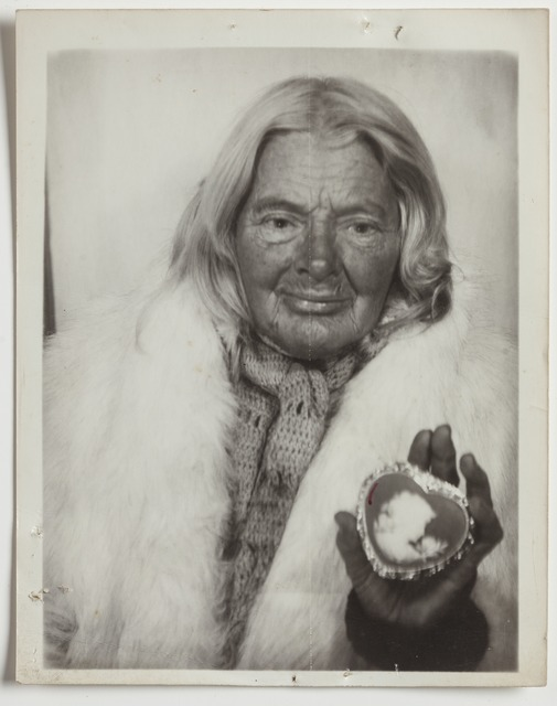 , 'Untitled (in white fur stole with heart-shaped cameo),' , Intuit: The Center for Intuitive and Outsider Art