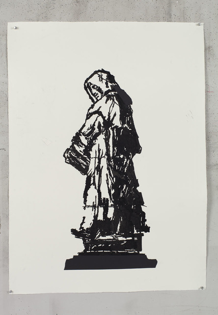 , 'Giordano Bruno (from Campo di Fiori) II,' 2016, Lia Rumma