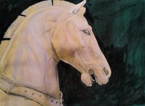 Patrick Faure, 'Helios Horse', Painting, Oil on paper, Saphira & Ventura Gallery