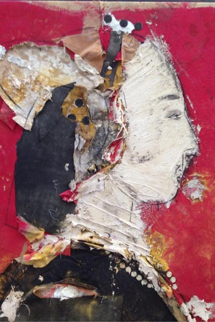 Manolo Valdés, 'Perfil Sobre Fondo Rojo (Profile on Red Background)', 2013, Rosenbaum Contemporary