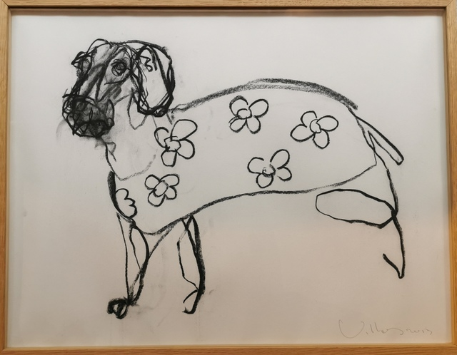 Patrick Villas, 'Small domestic dog', 2013, Drawing, Collage or other Work on Paper, Charcoal on Paper, Galerie Bayart