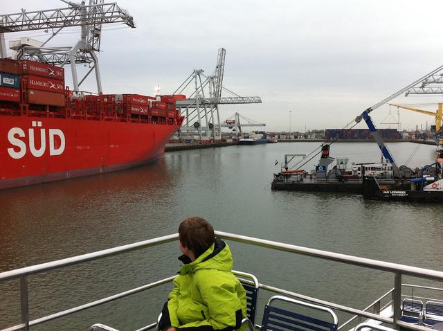 , 'My son THOMAS W., on his thirteenth birthday in Rotterdam harbor. The Netherlands, (June 9, 2011),' , Soho Photo Gallery