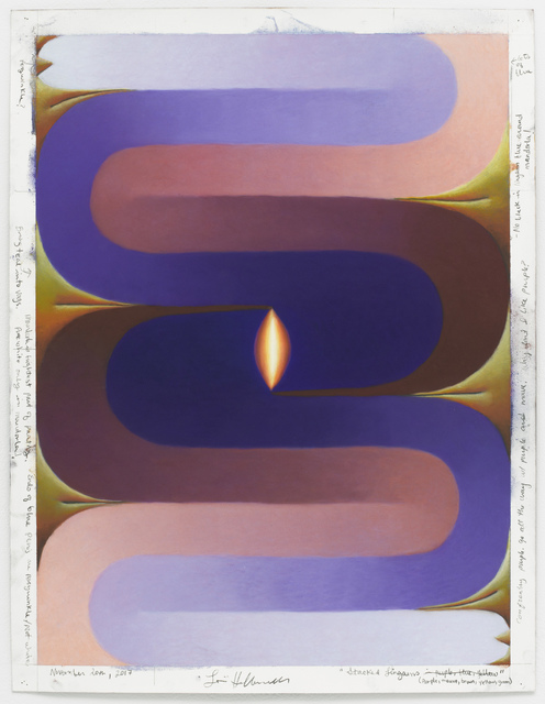, 'Stacked Lingam (purple, mauve, brown, yellow, green),' November 20-2017, Pace Gallery
