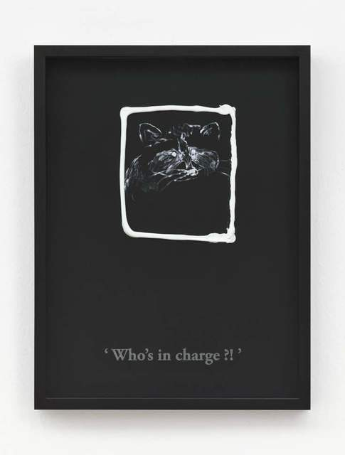 , 'Who's in charge?! (Black/ Titanium White),' 2017, Clages