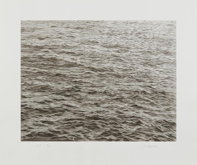 Vija Celmins, 'Ocean with Cross #1', 2005, Print, Screenprint, on wove paper, with full margins, Phillips