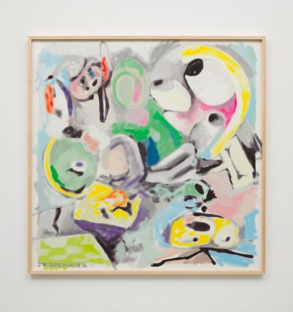 , 'J♥2018.01.01.18.16,' 2018, Johannes Vogt Gallery