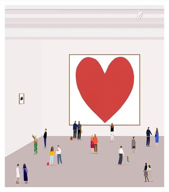 , 'A Pink Heart,' 2015, Rebecca Hossack Art Gallery