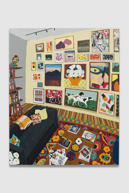 Hilary Pecis, 'Interior with Books and Paintings 2', 2019, The Pit