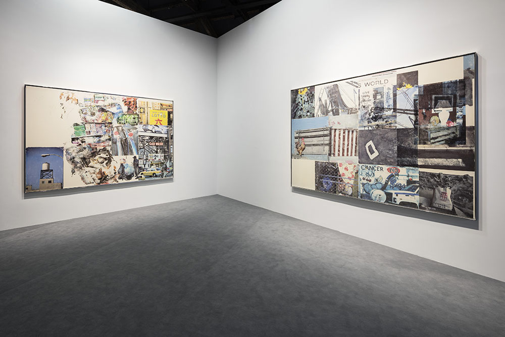 Installation view of the exhibition Robert Rauschenberg & Andy Warhol