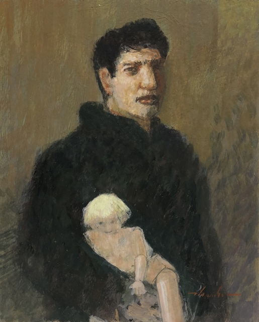 , 'Young Man with Doll,' 1970-1980, Bowersock Gallery