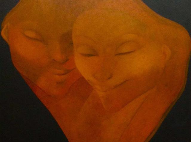 , 'The Couple,' 1981, Myriam Nader Haitian Art Gallery