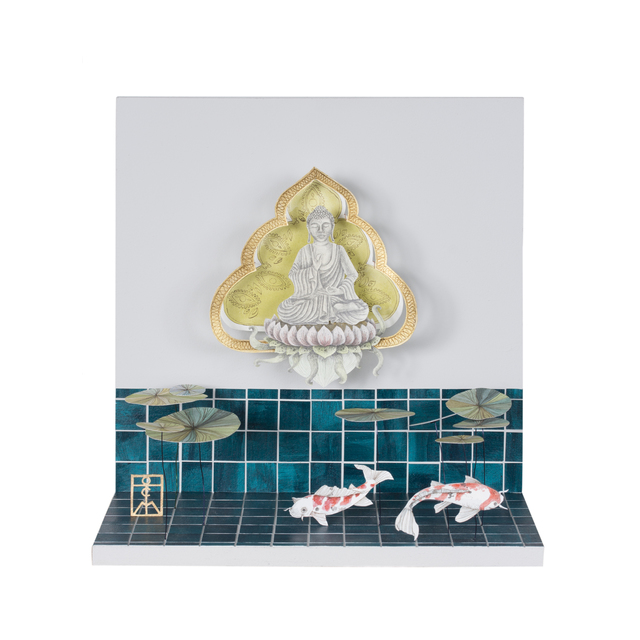 , 'Buddha Garden With Fish,' 2019, Beatriz Esguerra Art