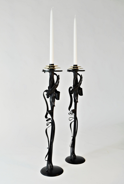 , 'Pair of Scepter Candleholders,' 2014, Alpha 137 Gallery