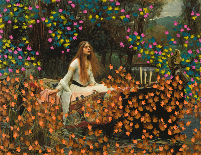 , 'Untitled (Lady of Shalott by John William Waterhouse, 1888),' 2017, Danziger Gallery