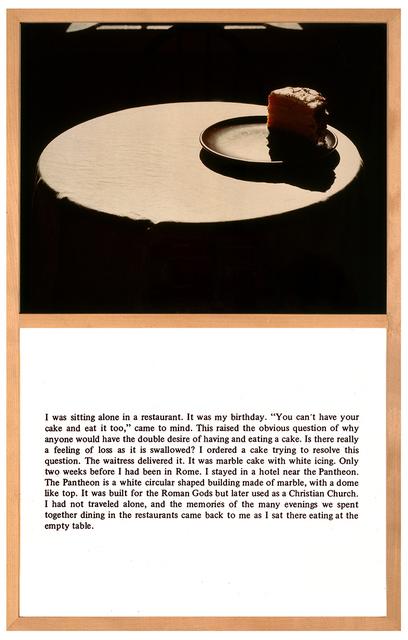 , 'Cake Story,' 1974, Studio Trisorio