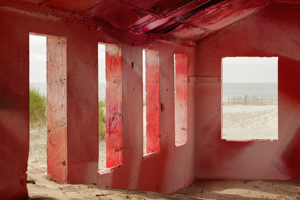 Rockaway! featuring site-specific installation by Katharina Grosse. Image courtesy the artist and MoMA PS1. Photo by Pablo Enriquez.