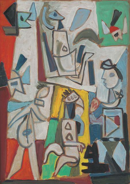 , 'Composición con figuras 2,' 1951, Galería de las Misiones