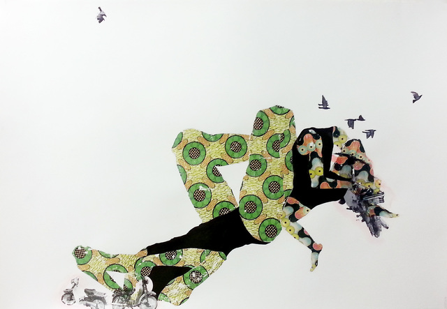 , 'just being here with you, is like flying,' 2014, Tiwani Contemporary