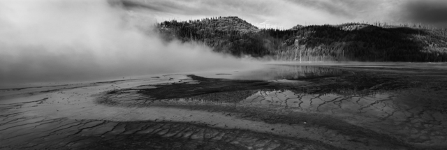 Cody S. Brothers, 'Black & White Panoramic Photography: 'Prism Pool #1- Yellowstone'', 2018, Ivy Brown Gallery