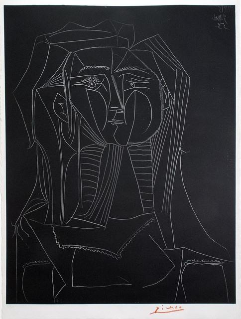 , 'Tête sur fond noir,' 1953, R. S. Johnson Fine Art