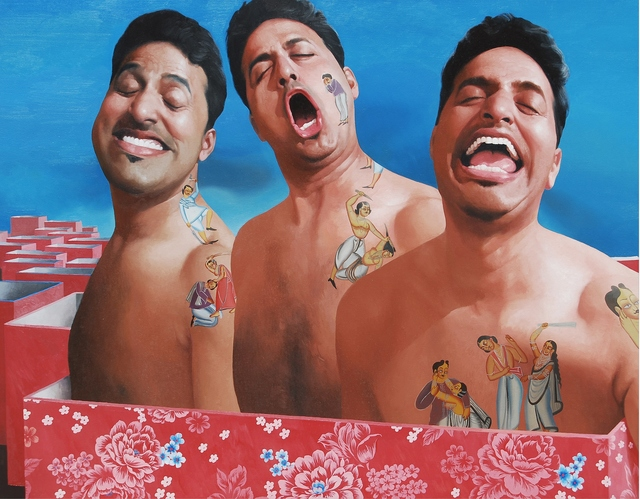 Snehashish Maity, '3 Idiots', 2011, Painting, Oil On Canavas, Arushi Arts