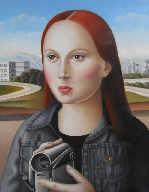 , 'Young Woman with Video Camera,' 2017, Lois Lambert Gallery