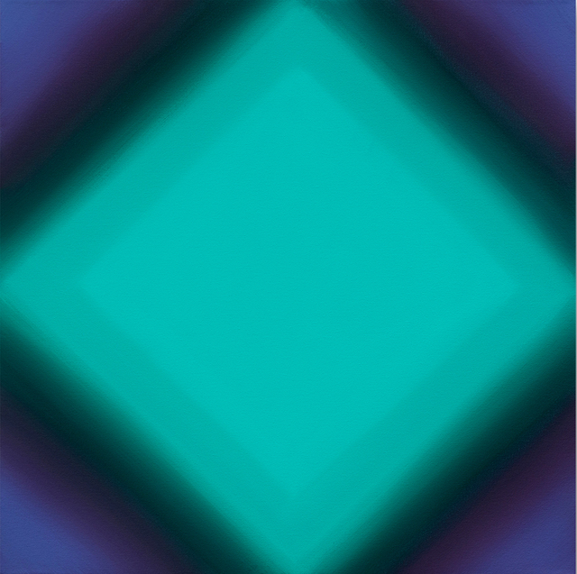 , 'Matter of Light 10-S2424 (Red Green) Square Diamond,' 2016, David Klein Gallery