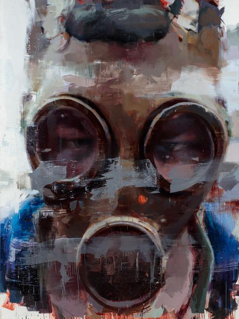 , 'Portrait of an Unknown Protestor,' 2017, Lazinc