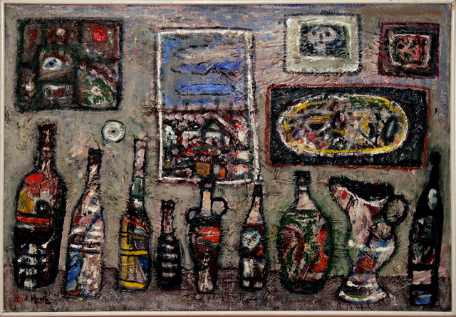 , 'Bottles and Paintings,' 1963, Museum of Modern Art Dubrovnik