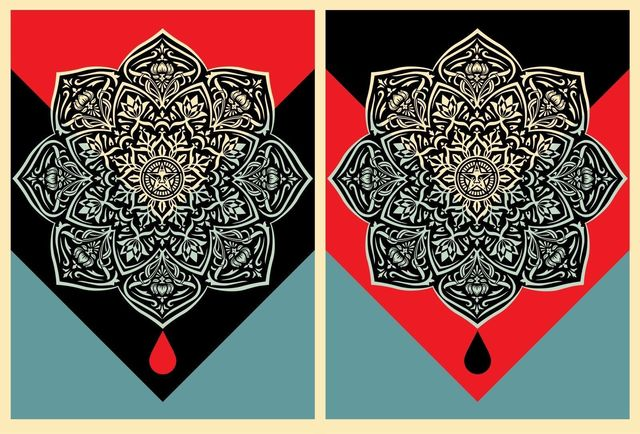 Shepard Fairey, 'Blood And Oil Mandala Set', 2017, New Union Gallery