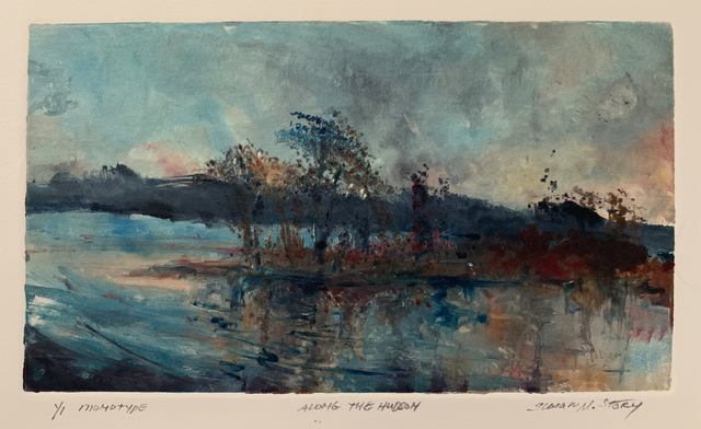 Susan M Story, 'Along The Hudson', 2019, Print, Oil Monotype, The Galleries at Salmagundi