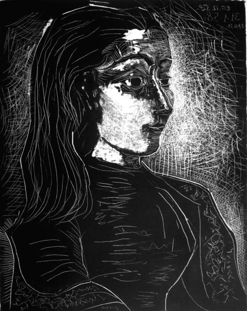 Pablo Picasso, 'Jacqueline de profil à droite', 1958, Print, Lithographie on Arches Paper, Galerie Jean-François Cazeau