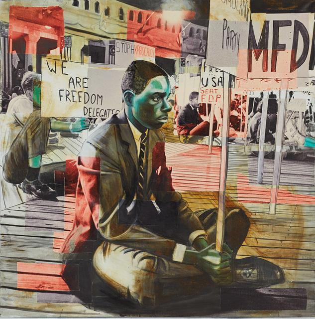 ", 'Freedom Summer Madonna: Stop ""Hyprocricy"", Freedom Summer 1963,' 2015, Hudson Milliner Art Salon"