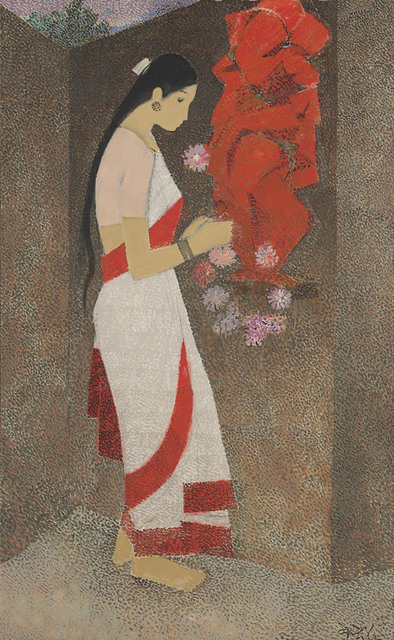 N. S. Bendre, 'Untitled (Woman and Ganesha)', Painting, Oil on canvas, Christie's South Asian + Chinese