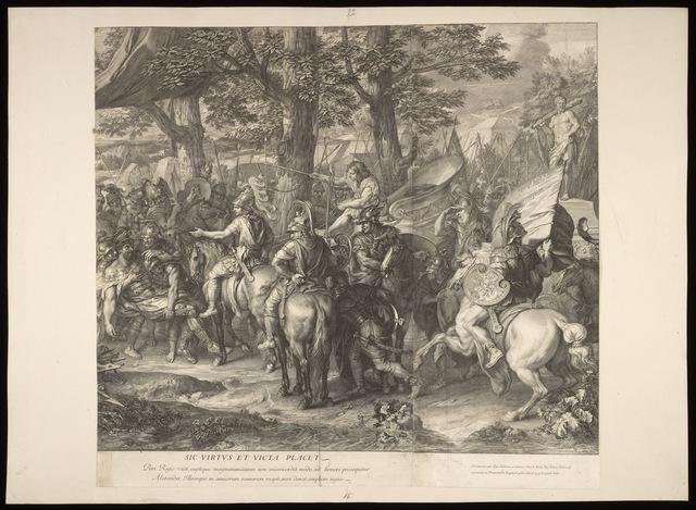 Charles Le Brun | [Alexander and Porus : detail] (1678) | Artsy