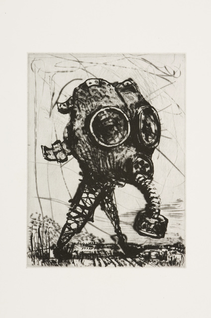 , 'L'Inesorabile Avanzata, Gas Mask (Set of 5 Prints),' 2007, David Krut Projects