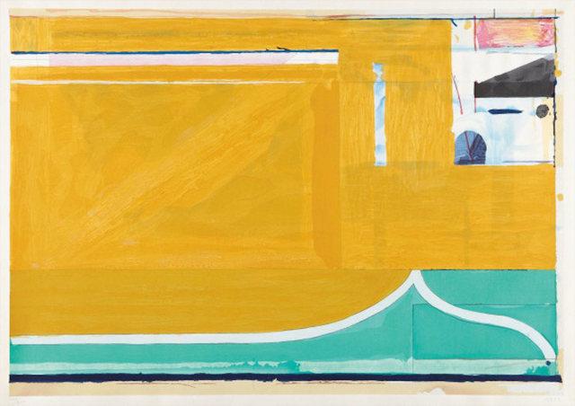 Richard Diebenkorn, 'Ochre', 1983, Print, Original woodcut in colors printed on Mitsumata Japan Paper, michael lisi / contemporary art