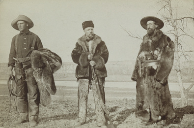 Teddy Roosevelt, William Wingate Sewall, and Wilmot Dow, Little Missouri River, North Dakota