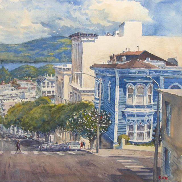 , 'The Blue House on Pacific Ave.,' ca. 2018, STUDIO Gallery