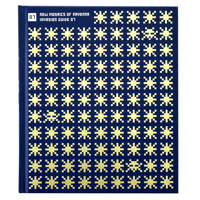 Invader, 'NEW MOSAICS OF RAVENNA (Invasion Guide #7)', 2017, Books and Portfolios, Hardcover book with blue and gold cover, Silverback Gallery
