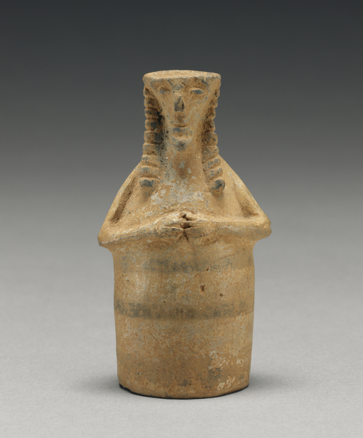 'Daedalic Plastic Vase',  first half of 7th century B.C., J. Paul Getty Museum